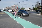 Bike Lane in Boston MA